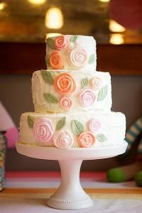 Rose-Adorned-Cake